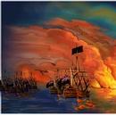 La Bataille des Plaines d'Abraham - des navires enflammés