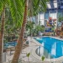 Atrium, piscine et jeux d'eau