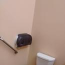Toilette partiellement accessible