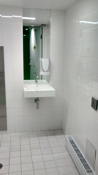 Toilette accessible mixte / Pavillon Pierre Lassonde