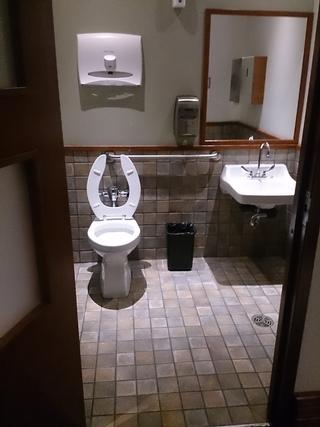 Salle de toilette accessible - sous-sol