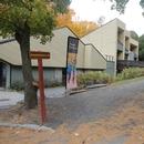 Accès vers la cafétéria située au 2e étage du Centre de découverte et de services