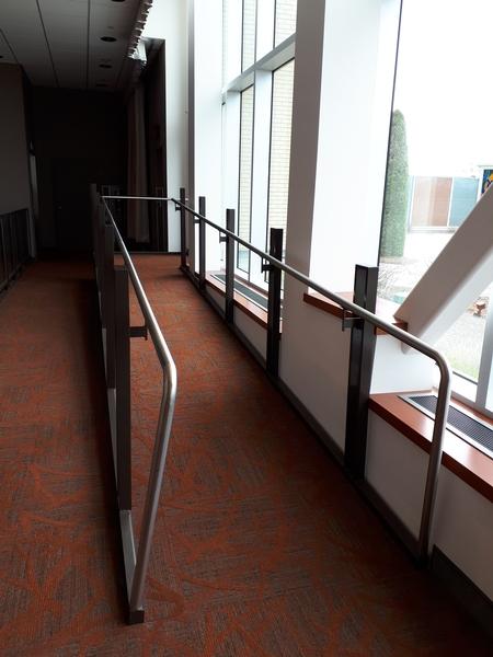 Rampe d'accès à la terrasse sur le toit