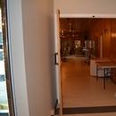 Porte entre le restaurant et la salle de réception