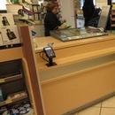 Comptoir caisse - titres avec terminal surbaissé